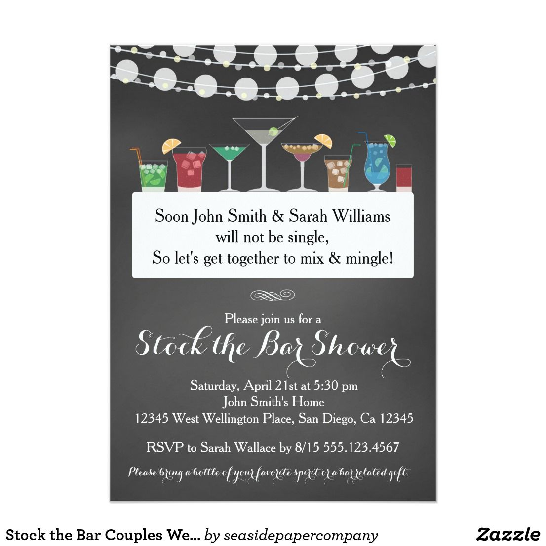 Stock the Bar Couples Wedding Shower Invitation | Couples wedding ...