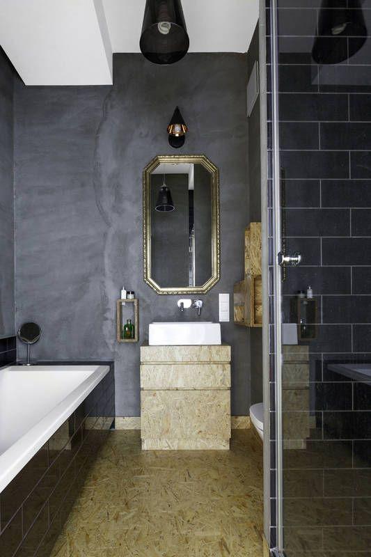 Lazienka Z Plyta Osb Lazienka Styl Nowoczesny Aranzacja I Wystroj Wnetrz Bathroom Osb Bed And Breakfast