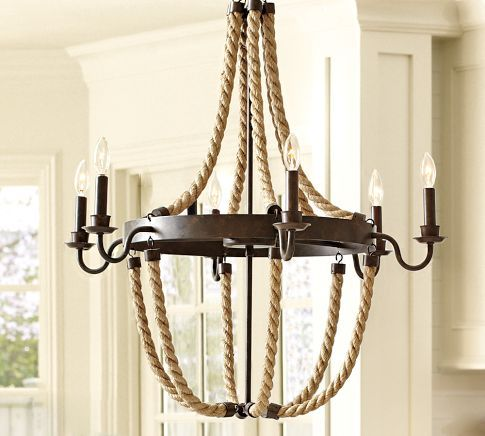 Griffin Rope Chandelier Rope Chandelier Iron Chandeliers Nautical Decor