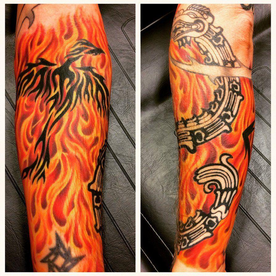 49++ Astonishing Phoenix tattoo sleeve designs image ideas