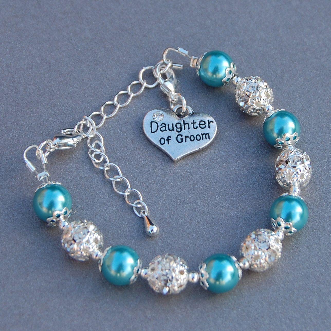 Daughter of Groom Wedding Kids Gifts Flowergirl Bracelet Girls