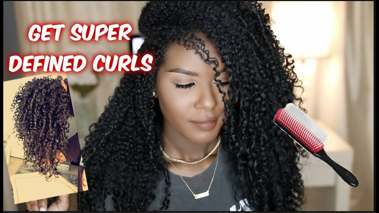 Get Defined Bouncy Curls w/ the Denman Brush YouTube
