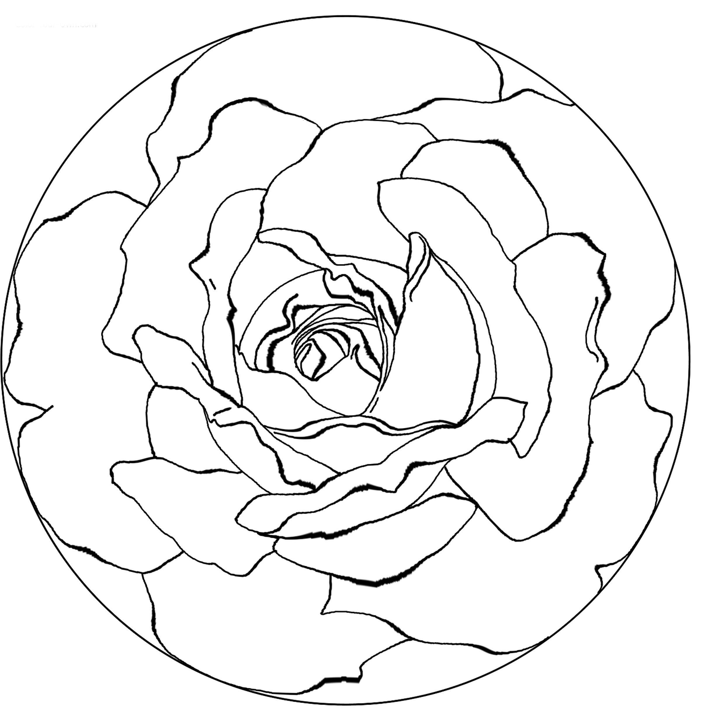 mandalas de flor para pintar ms