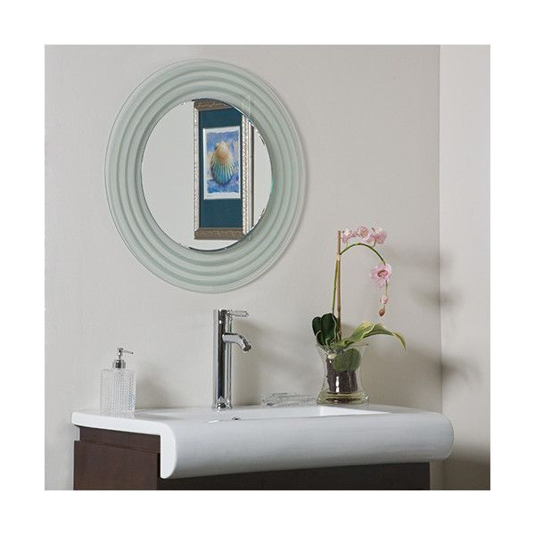 Decor Wonderland Isabella Round Beveled Frameless Bathroom Mirror 169 Liked On Polyvore Featuring Home Mirrors Wall