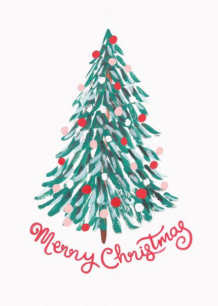 Merry Christmas Tree  Christmas Card Set Merry Christmas Treecard