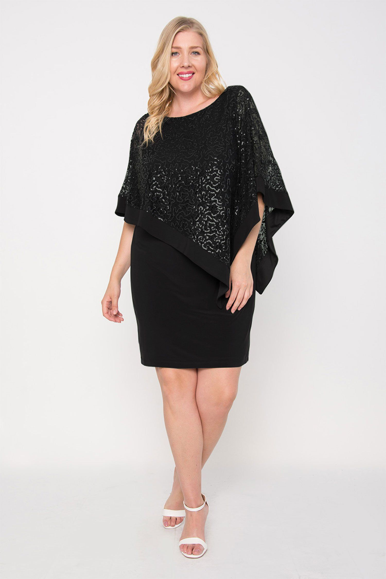 Mother of the bride wedding dresses nordstrom  RuM Richards Mother of the Bride Plus Size Poncho Dress in