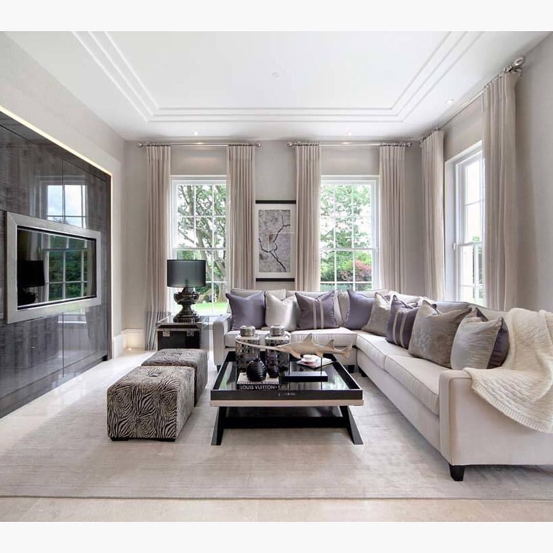 An Elegant Family Room By The L C Company Elegant Family Room