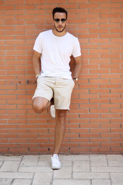 1a1d8394217 Simple Guy Style in white and khaki... I wish it was still summer ...