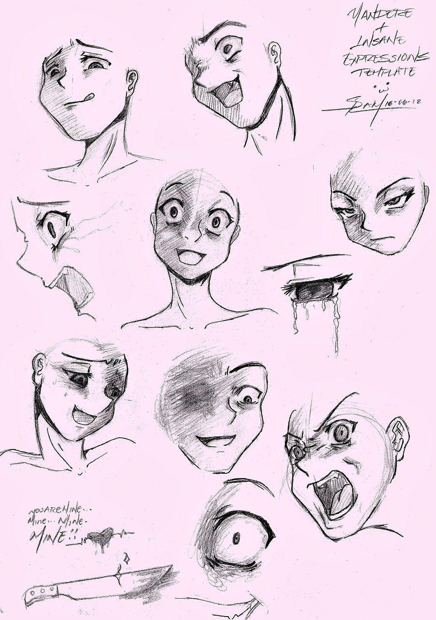 Yandere Template Sketch By Saido Chandeviantartcom On