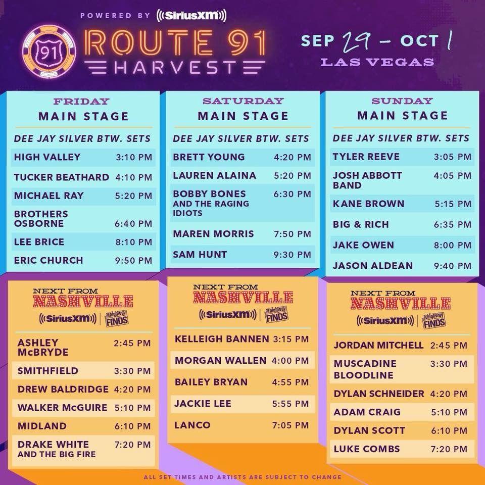 Route 91 line up 2017 #Route91 #Lineup | Route 91 | Pinterest