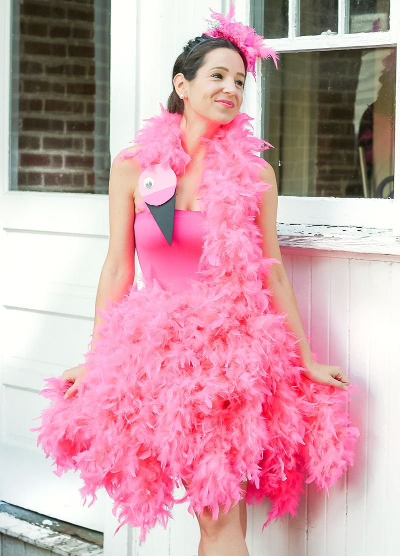 DIY Flamingo Costume for Kids and Adults #halloweencostumeswomen