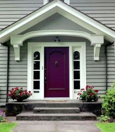 Image result for light green house with a purple door - Front door colors for grey house ...