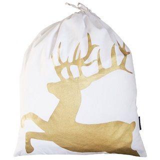 Gold Santa Sack Deer Gold Deer Santa Sack Christmas Gift Bags