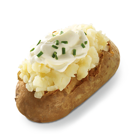 Sour Cream Chive Baked Potato Best Fast Food Vegan Fast Food Food