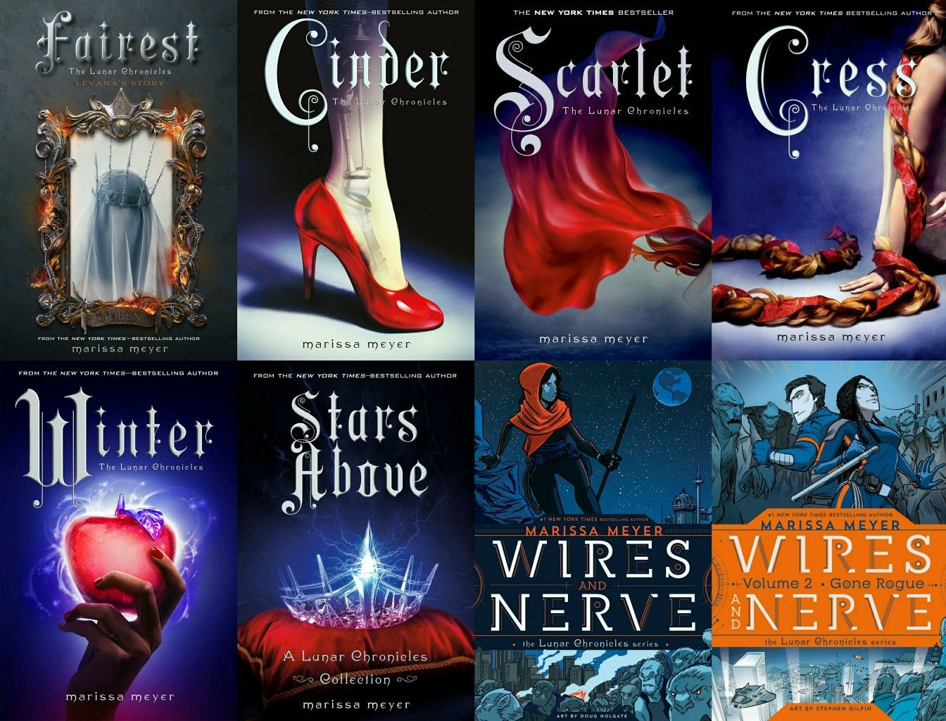 The Lunar Chronicles By Marissa Meyer Complete Series Lunar Chronicles Lunar Chronicles Books Lunar Chronicles Cinder