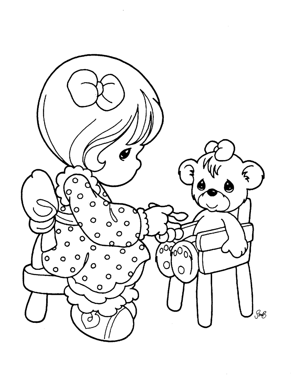 Precious Moments for Love Coloring Pages | ~ Coloring pages ...