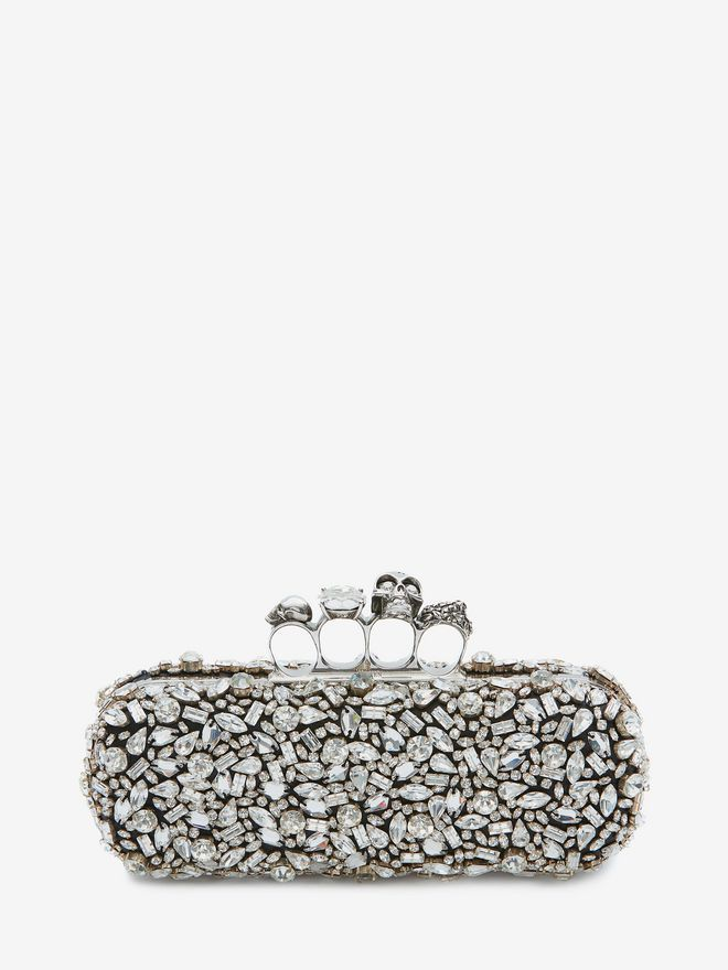 skull four-ring clutch bag - Black Alexander McQueen Discount Clearance Store 2018 For Sale Huge Surprise Online aLHeg