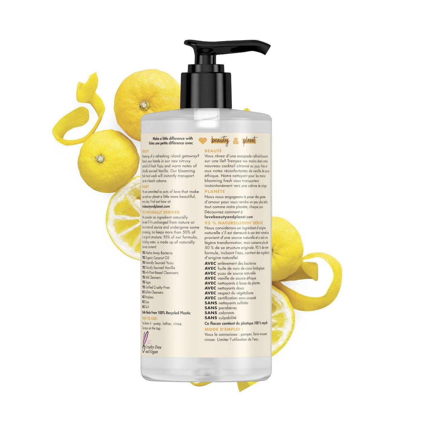 Love Beauty Planet Yuzu Vanilla Blooming Fresh Liquid Hand