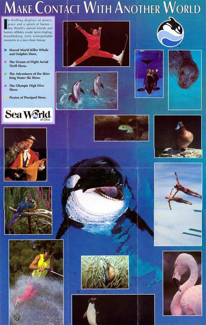 Sea World Of Ohio 1992 Sea World Theme Park World