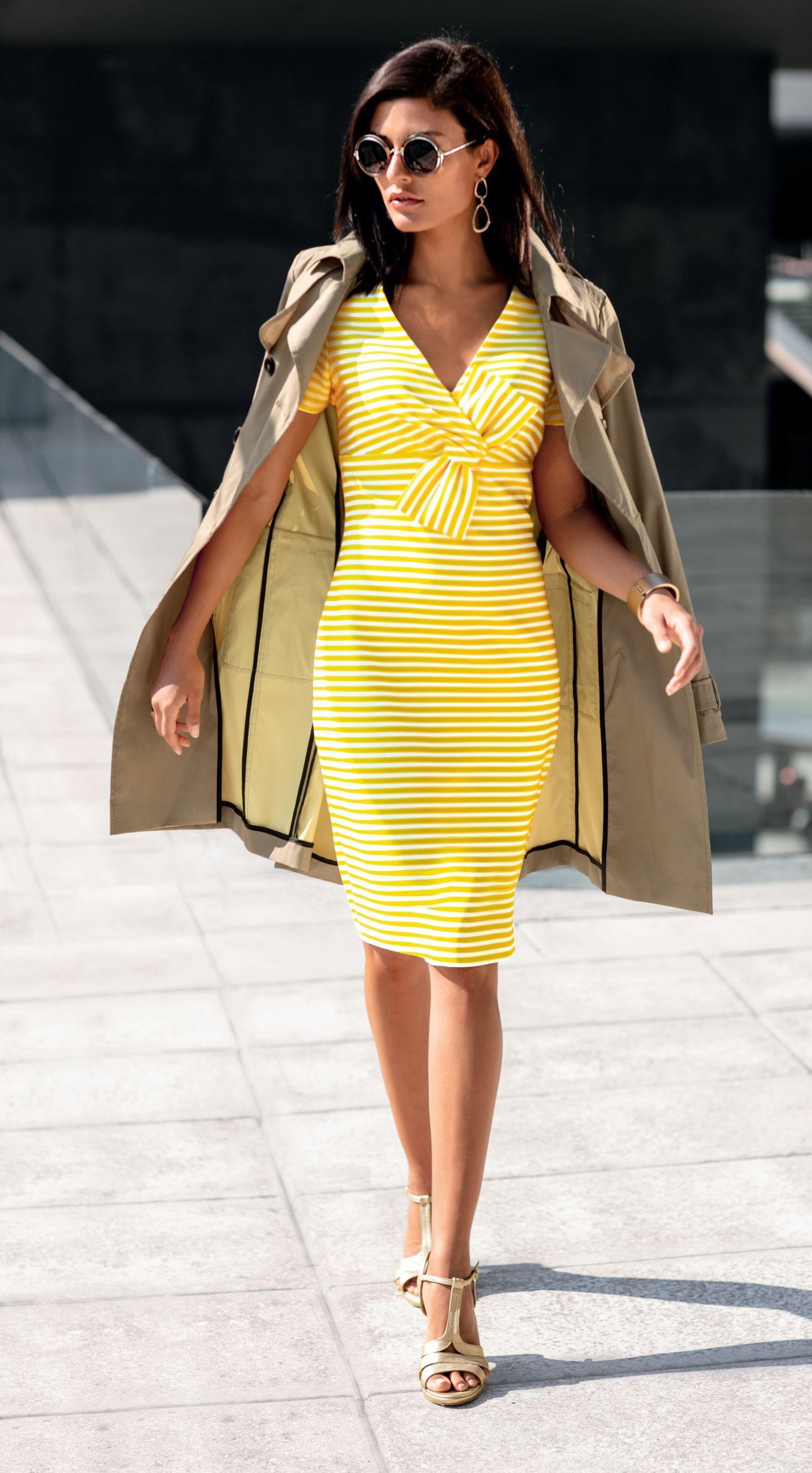 Streifenkleid l MADELEINE Mode  Gestreiftes kleid, Kleider, Mode