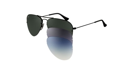 d9dfbcf0c3 Ray-Ban RB3460 Sunglasses with interchangeable lenses. Eyeglasses4all.com