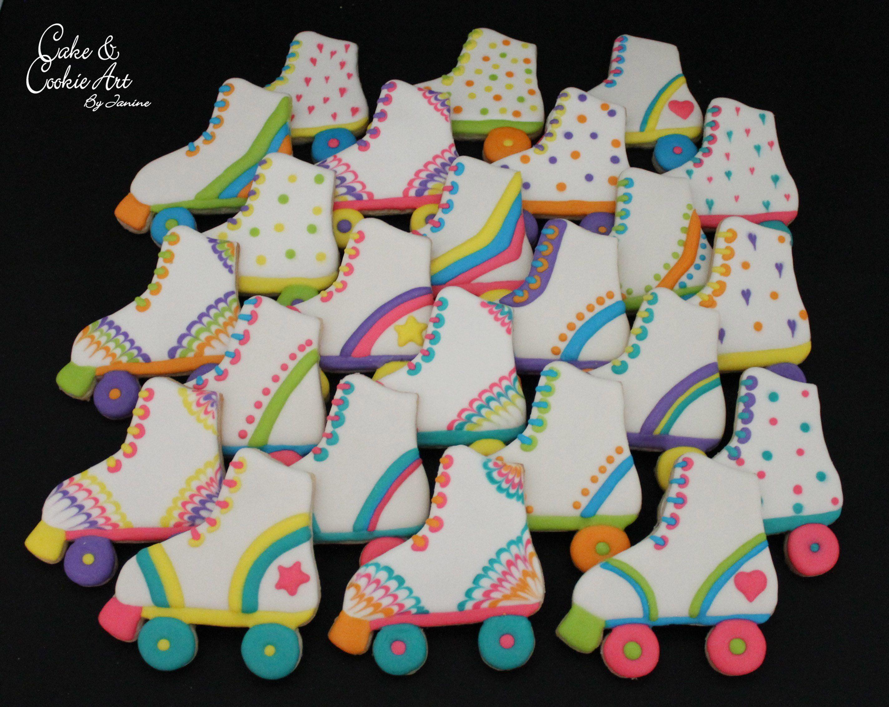 Roller Skate Cookies Skate Birthday Party Roller Skate Birthday Party Roller Skate Birthday
