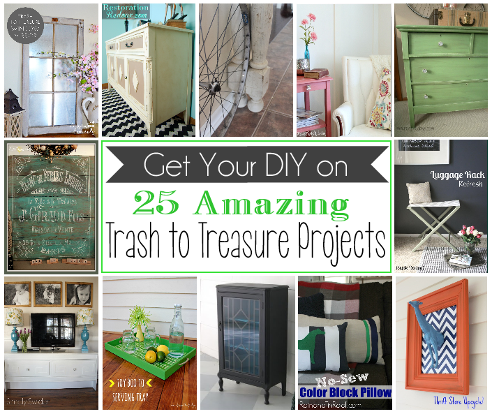 Come be inspired by these 25 amazing trash to treasure projects!