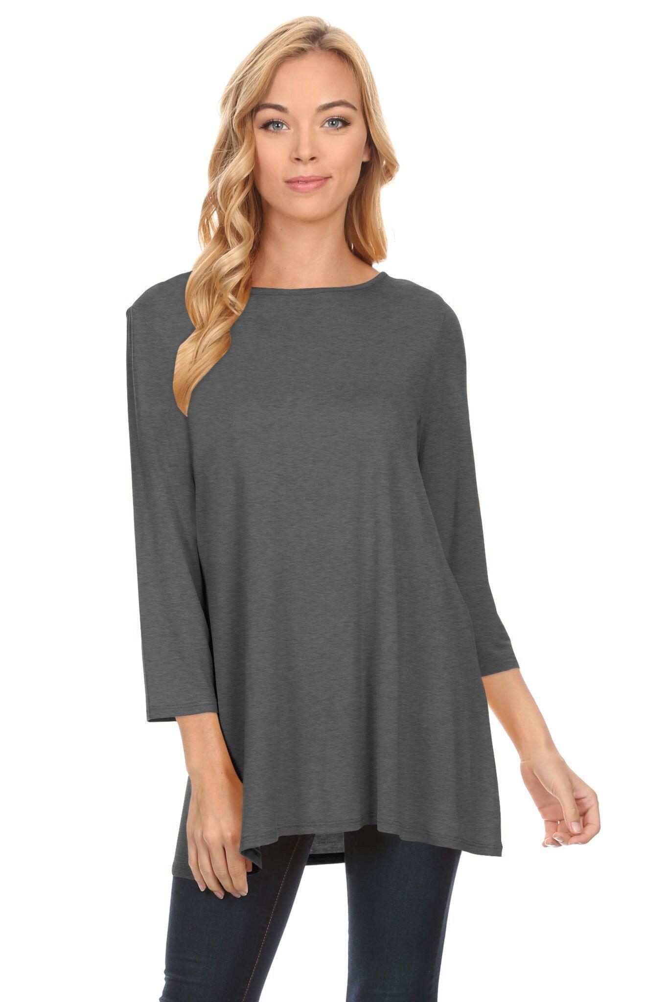 f50973e448f Beautifully basic tunic | Products | Tunic tops for leggings, Tunic ...