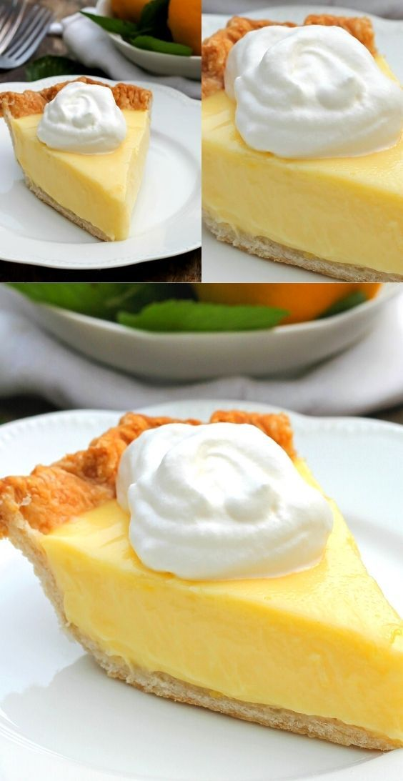 Sour Cream Lemon Pie Is Delicious Easy To Make And Will Quickly Become A Favorite In Your House All Year Round In 2020 Lemon Sour Cream Pie Lemon Cream Pies Lemon Pie