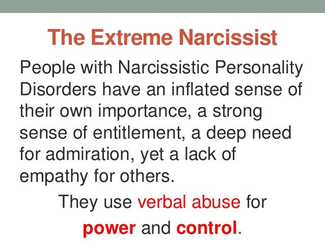 Narcissistic personality disorder verbal abuse