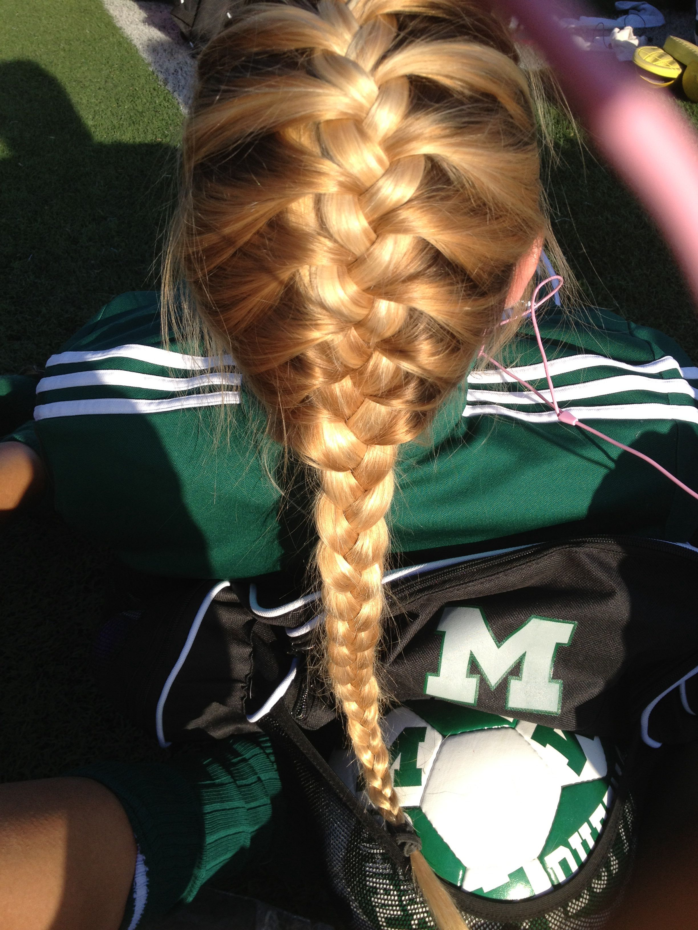 lots of athletes love french braids. try it! #run #braid