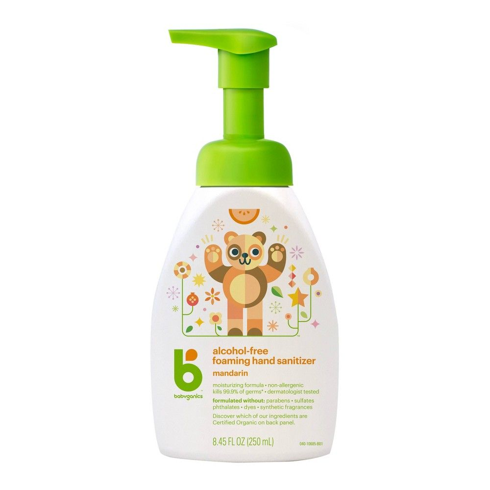 Babyganics Alcohol Free Foaming Hand Sanitizer 8 45 Fl Oz 3pk