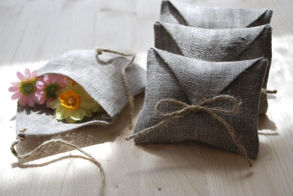 Linen Favor Gift Envelope Style Bags Set Of By Magdalinenhome