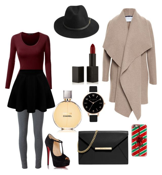 """""""Some maybe winter outfit ❄️"""" by wendy-nekutova ❤ liked on Polyvore featuring Harris Wharf London, Doublju, Ermanno Scervino, Christian Louboutin, NARS Cosmetics, Chanel, BeckSöndergaard, Casetify, MICHAEL Michael Kors and Olivia Burton"""