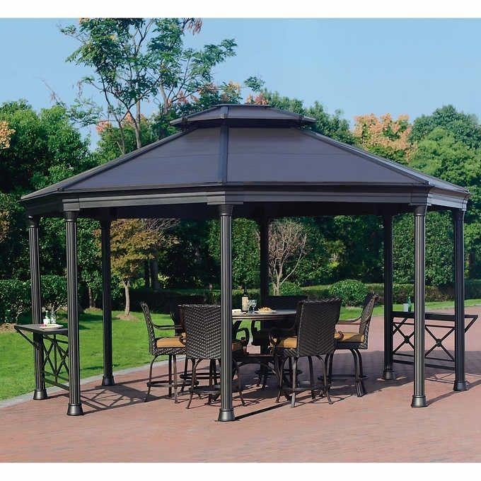 16 X 14 Hardtop Gazebo Metal Steel Aluminum Roof Post Outdoor For