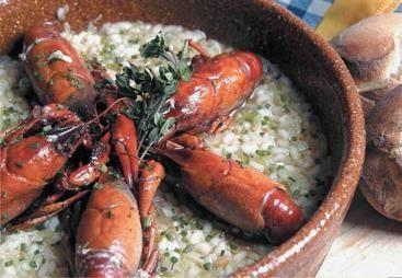 Cangrejos de río con arroz cremoso by www.vinosyrecetas.com