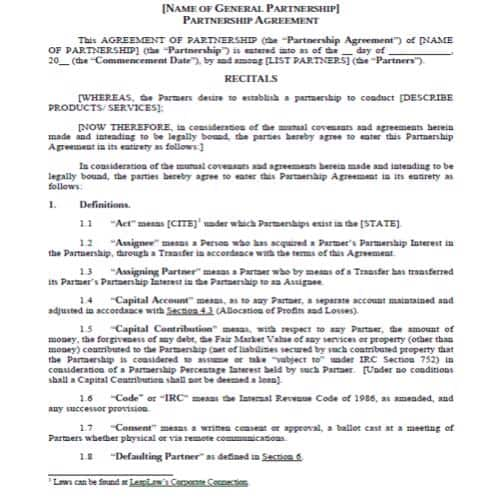 26 free partnership agreement templates in 2020 best academic cv examples career objective for resume waiter medical assistant description