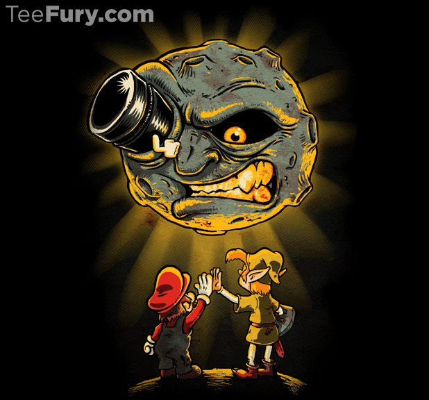 Teamwork! T-Shirt | $11 Super Mario Bros/Zelda/A Trip to the Moon T-Shirt at TeeFury today only!