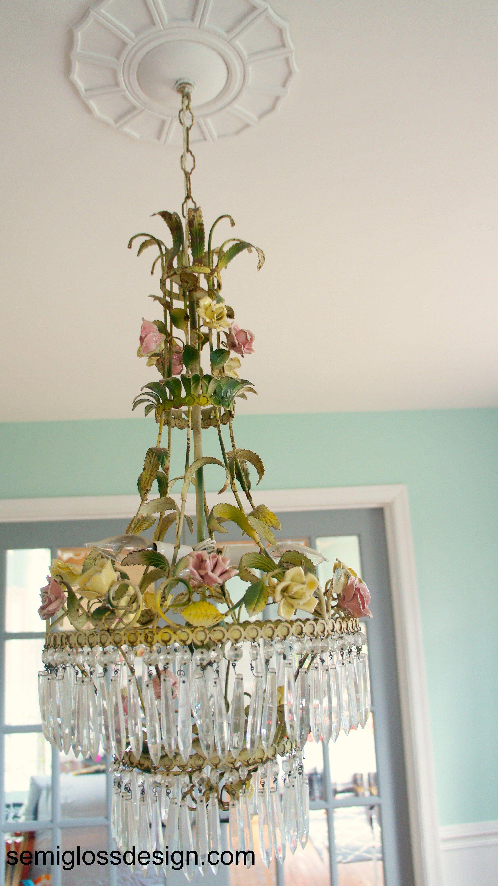 Farmhouse table reveal vintage italian chandeliers and dining farmhouse table reveal semigloss design floral chandelierchandelier lamps chandeliersvintage arubaitofo Image collections