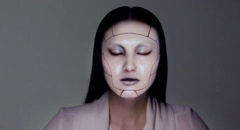 Watch how electronic makeup changes this girl's face in just seconds