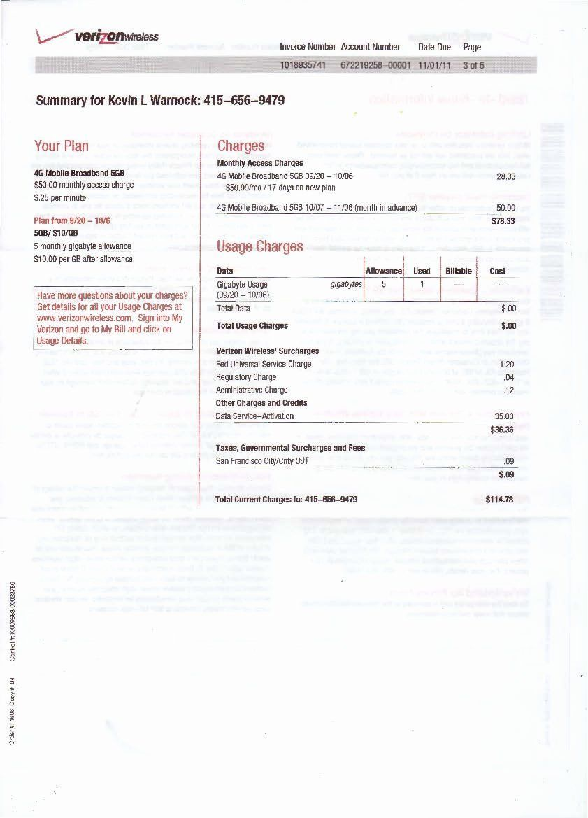 Fake Cell Phone Bill Template Inspirational Verizon Bill Bing