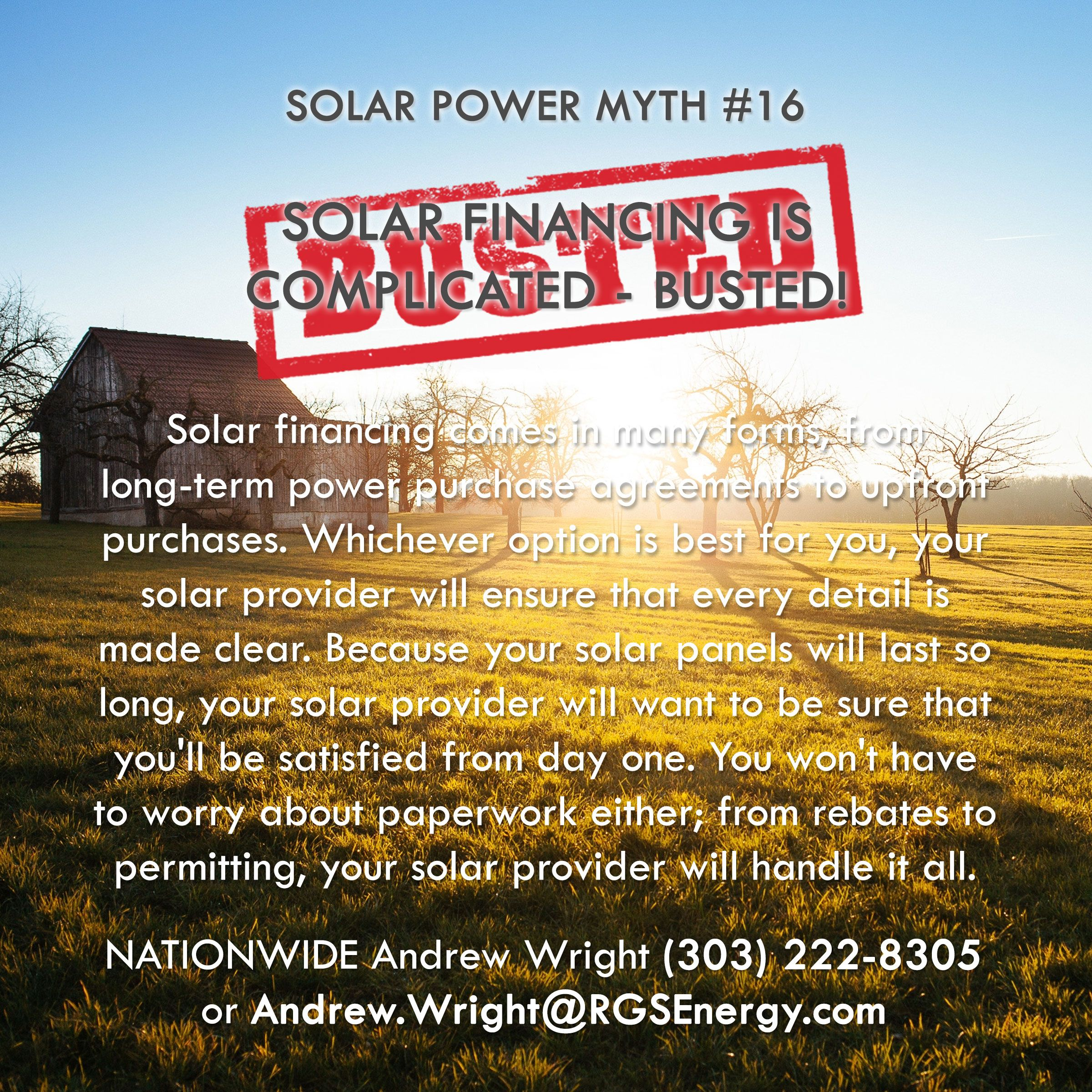 Myth   Solar Financing Is Complicated  Busted Solar