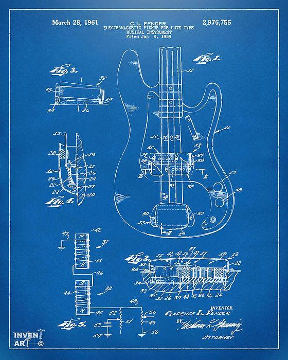 1961 fender guitar patent artwork blueprint poster by nikki marie 1961 fender guitar patent artwork blueprint poster by nikki marie smith malvernweather Image collections