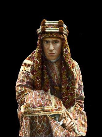Lawrence of Arabia by Lowell Thomas hand colored version
