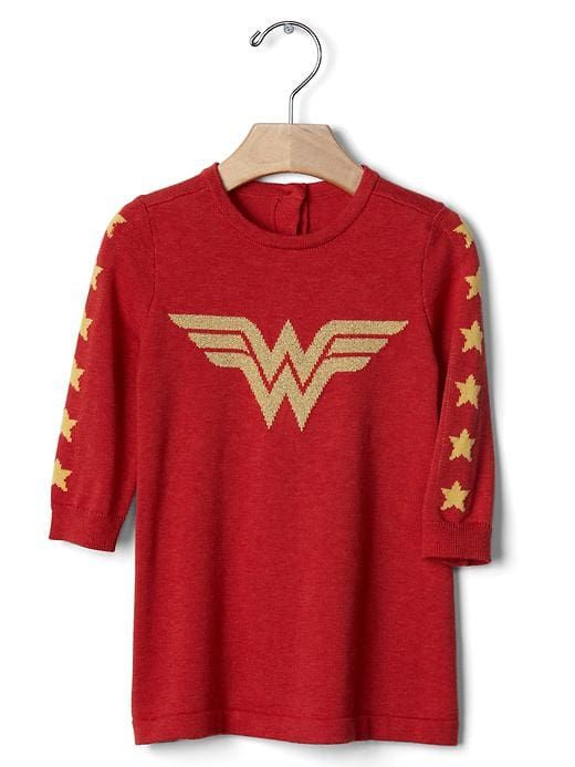 bbb9e09f1 Wonder Woman baby sweater dress