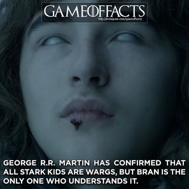Make sure to follow Isaac Hempstead Wright @isaachwright who plays Bran on Game of Thrones! @isaachwright @isaachwright @isaachwright @isaachwright @isaachwright There is something else about this fact that I had to leave out because it is a book spoiler but you will probably see it next season :)