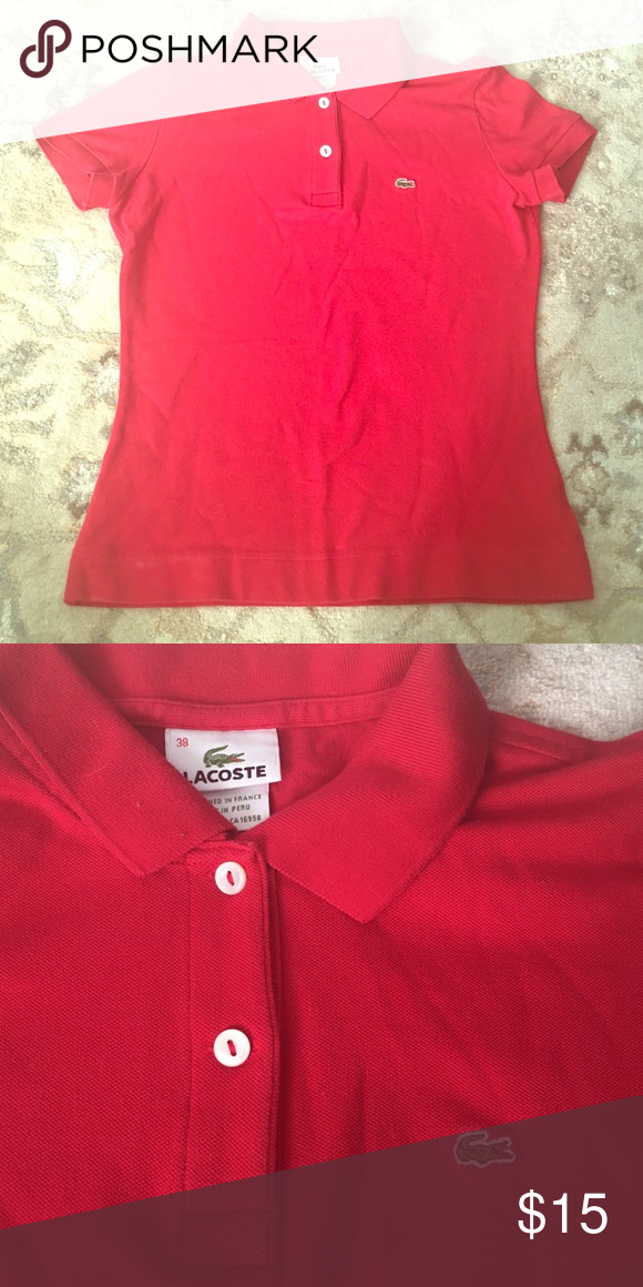 Lacoste polo size 38 Perfect condition Lacoste polo. Size 38, fits a small, XS Lacoste Tops Tees - Short Sleeve