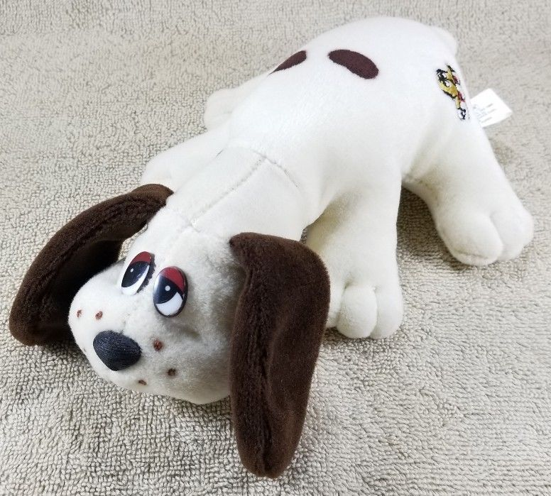 Vintage Pound Puppies 1984 Original Bone Logo 9 Plush Cream Brown