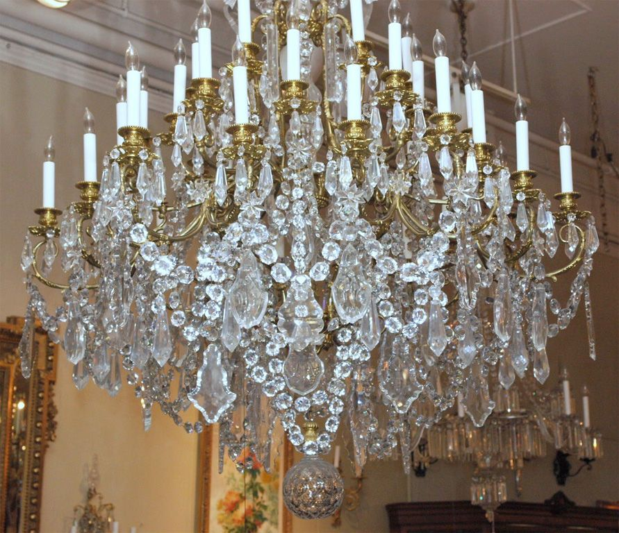 1stdibs | Antique French Bronze D'ore and Baccarat Crystal Chandelier - Antique French Bronze D'ore And Baccarat Crystal Chandelier