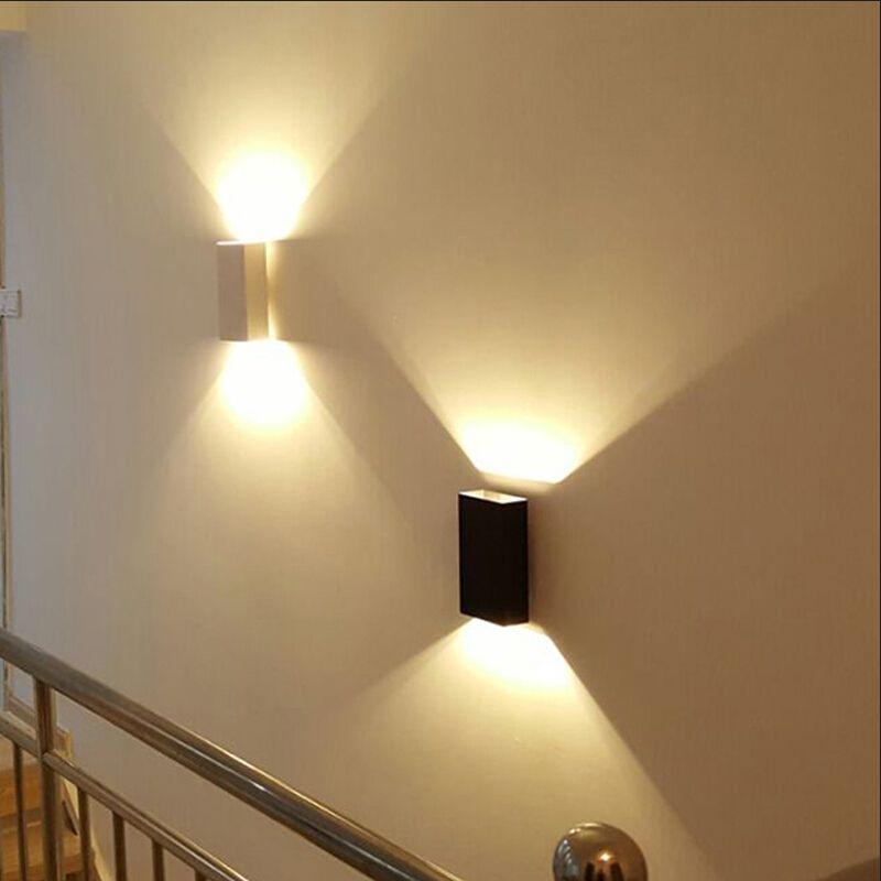 Modern LED Wall Lights AC85 265V Rectangular Led Wall lamp White ...